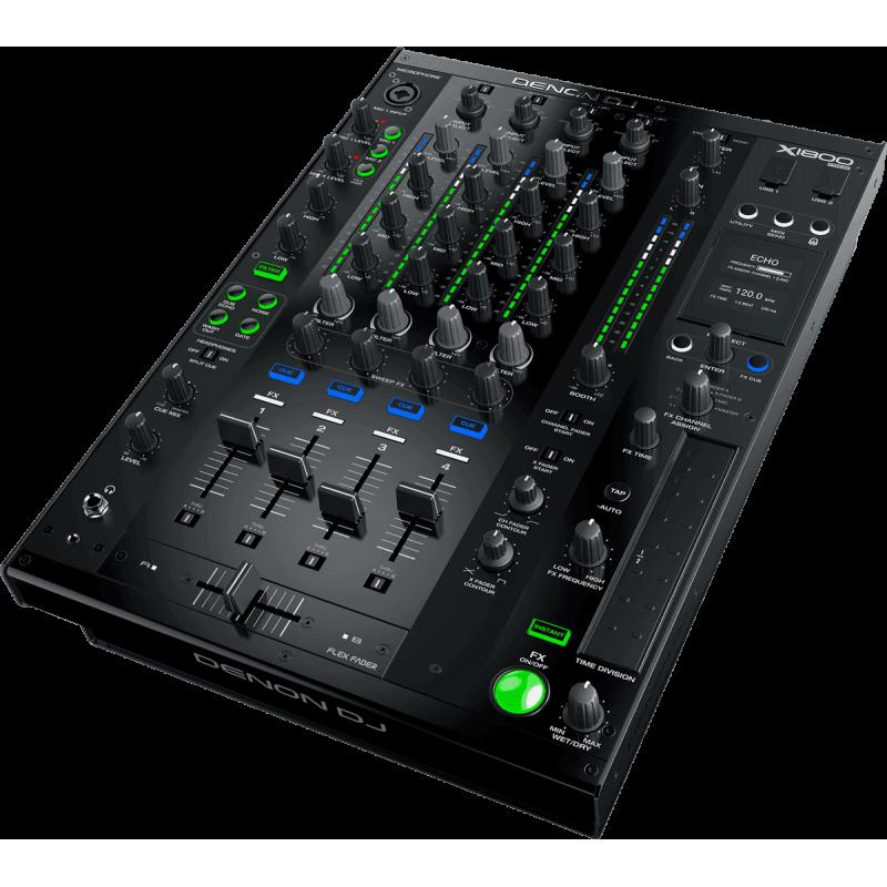 Denon DJ - X1800PRIME 4 voies, 2 USB Audio, DSP 12 effets