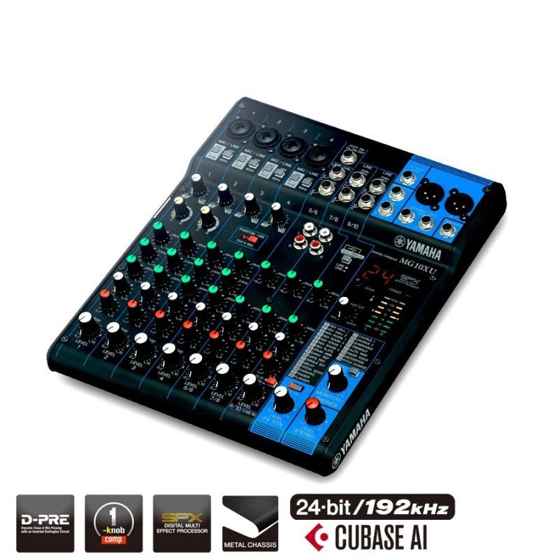 Yamaha MG10XU - Mixeur analogique avec SPX console de mixage avec effets+ Usb