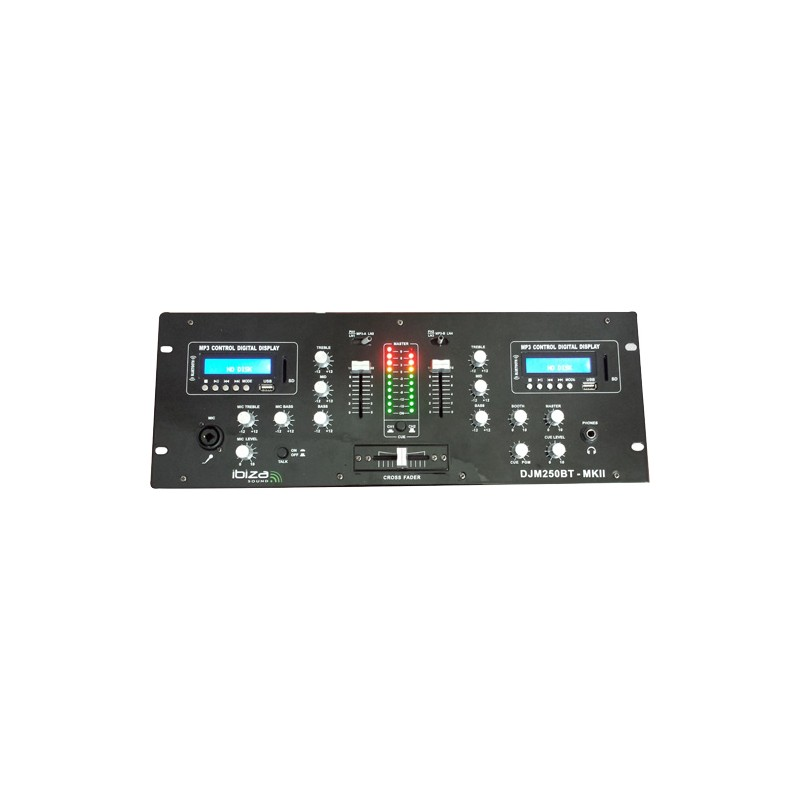 Ibiza DJM250BT-MKII- Table de mixage Dj a 2 canaux Usb, Sd, Bluetooth