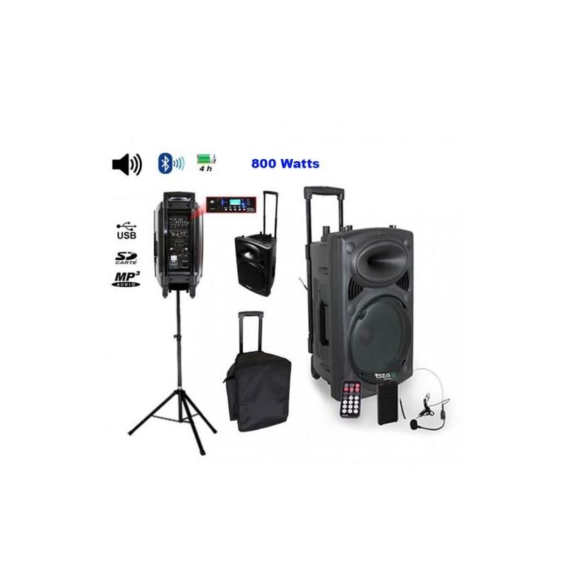 Pack Ibiza Port15vhf-bt + pied + housse - sono autonome 15 pouces