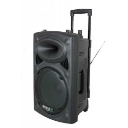 Ibiza - Sono Portable PORT15VHF-BT autonome avec usb mp3 et 2 micros vhf