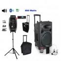 Pack MIPRO Sono portable MA303 SB + housse + micro cravate sans fil et son émetteur